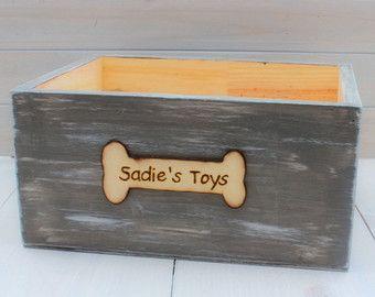 DOG Toy Box Crate Dog Toys Treats by OurSweetHomeAlabama on Etsy