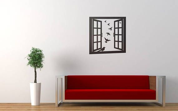 Window Frame with Birds Wall Decal Sticker | Window Emulation Decals | Beautiful Birds | Wood window | Sky Outdoors Dove by BrutalVisual    9.90 EUR  Many of us keep birds as pets including doves parakeets and lovebirds who enjoy living in pairs for companionship.. but birds are much more than that! Birds are a symbol of the human soul and it represents goodness joy wisdom and intelligence. For other groups like the Western art it symbolizes air and touch and throughout the life time the…