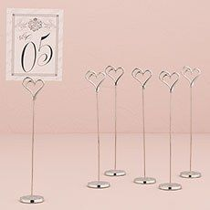 Double Heart Table Number Holder