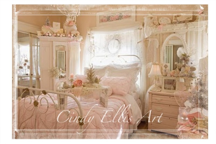 Romantic Shabby Chic Cottage Rose Style I love