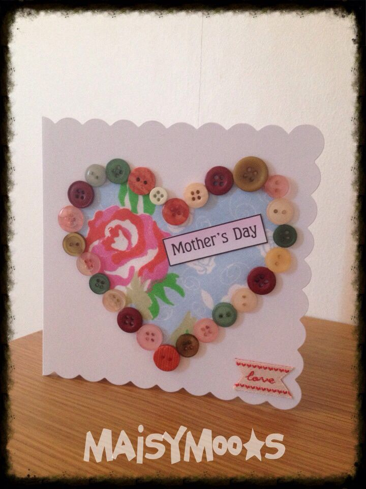 Mother S Day Craft Buttons For Kids