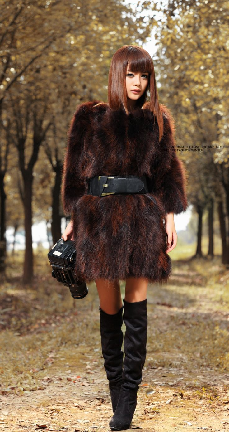 Furfox raccoon fur coat. ラクーンファー  毛皮 ジャケット ブルゾン コート アウター. Shipping website: www.furhall.com/