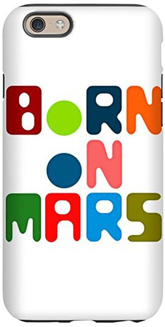 A vibrant and playful design, inspired by the colors of the Martian flag: red, green and blue. For newborns, infants, toddlers, kids, adolescents and adults.