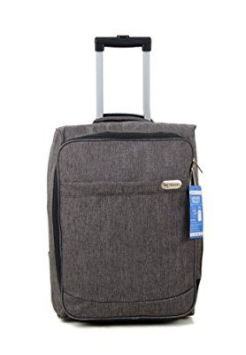 Cabin Bag Trolly with Wheels Hand Luggage Flight Bags Suit Case for Easyjet, Ryanair, British Airways, Virgin, FlyBe, Jet 2 and Many others Airlines or Travel ... (Grey)