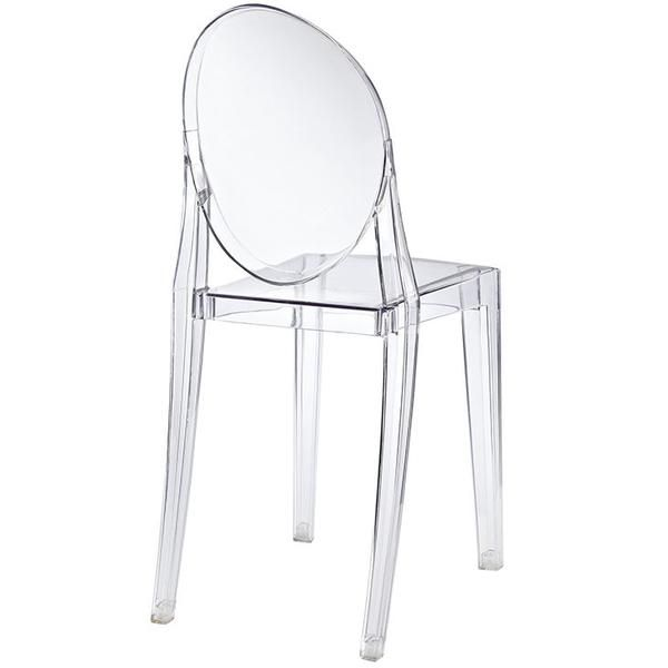 Philippe Starck Style Victoria Ghost Side Chair Clear   Modern Dining Chair by Modway at Contemporary Modern Furniture  Warehouse - 2
