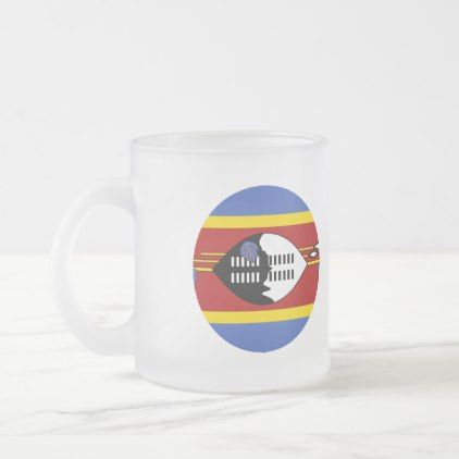 #Swaziland Flag Frosted Glass Coffee Mug - #country gifts style diy gift ideas