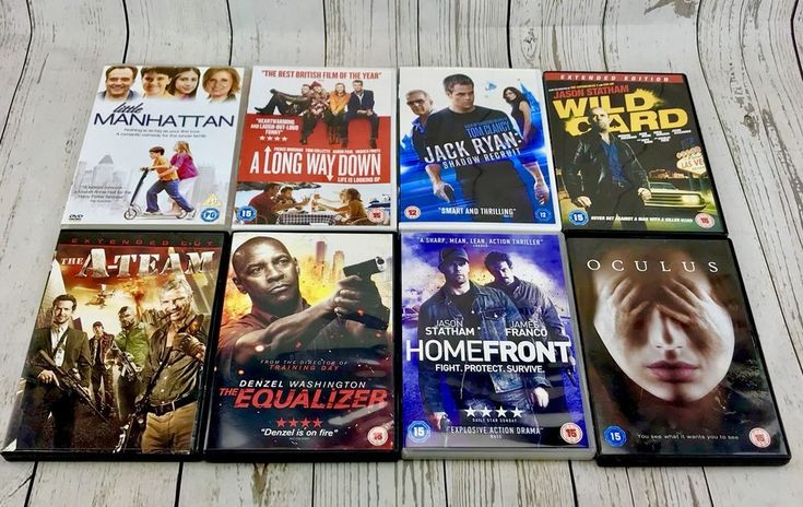 Large dvd bundle Mixed Films 8 In Total Family Kids Homefront Wild Card A Team