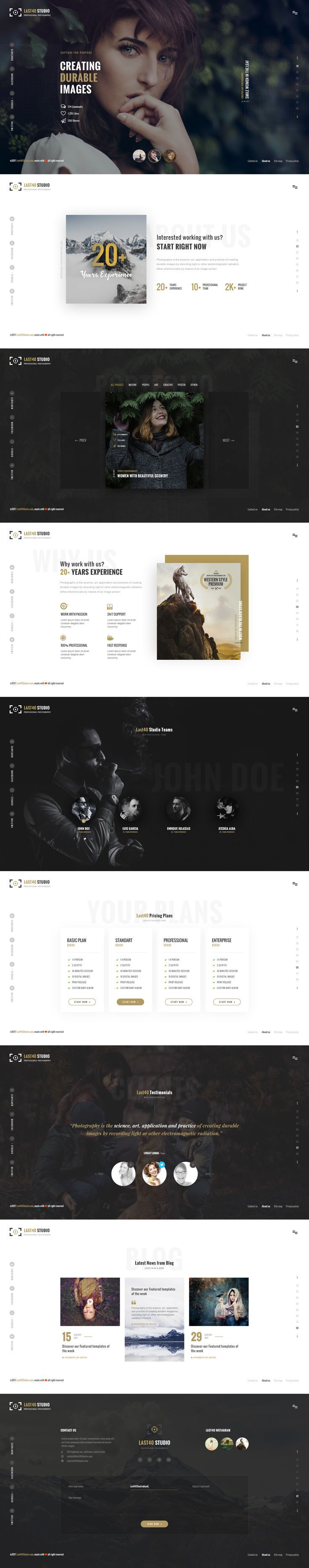 Last40 Studio – Creative PSD Template is a unique and creative Portfolio PSD template with clean and modern design. It is perfect choice for Personal Portfolio and Agency. It can be customized easily to suit your wishes.