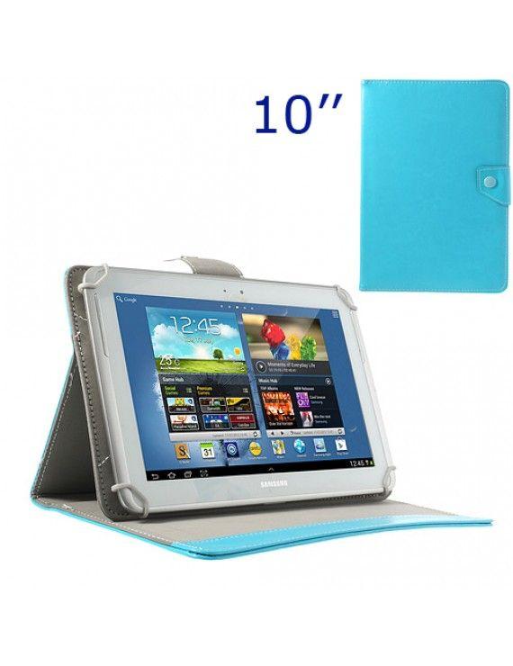 Universal Δερμάτινη Θήκη Βιβλίο με Βάση Στήριξης για iPad Air / Sony Xperia Tablet Z 10 ιντσών Tablet PC - Μπλε