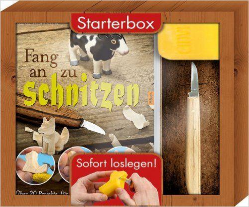 Fang an zu schnitzen - Starterbox: Über 20 Projekte für Anfänger und Fortgeschrittene. Box mit Buch, Schnitzmesser und Seifenblock.: Amazon.de: Steve Tomashek: Bücher