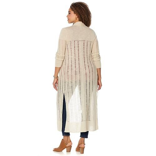 Lucky Brand Duster Cardigan - Plus - Ivory/Off White | Products ...