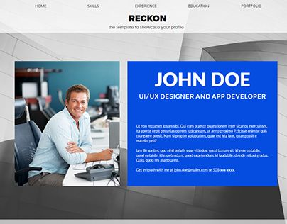 122 best Website Concepts images on Pinterest Corporate website - online resume website