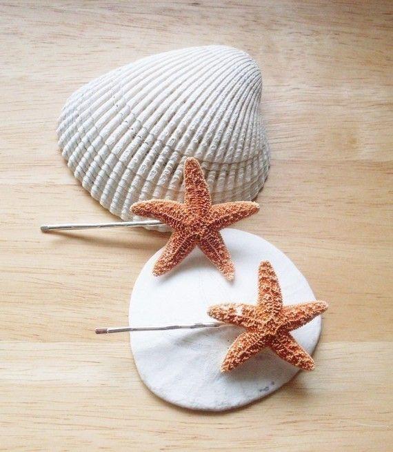 Starfish Bobby Pins Starfish Hair Clips Bridal di dreamsbythesea