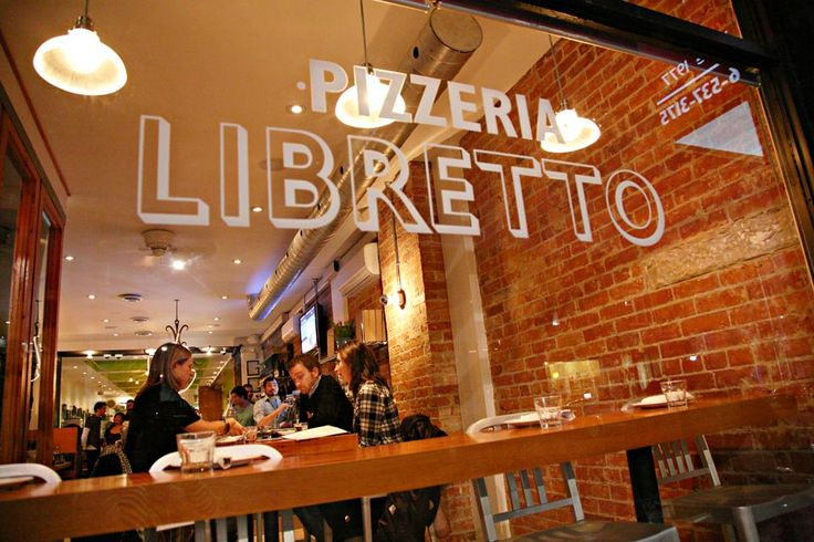 Pizzeria Libretto - if you like authentic Napolitana Pizza, this is the real deal. Best pizza in the city. Located on Ossington Ave, just south of Dundas.