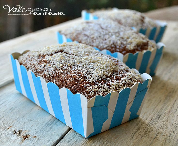 Mini plumcake allo yogurt con cocco e nutella