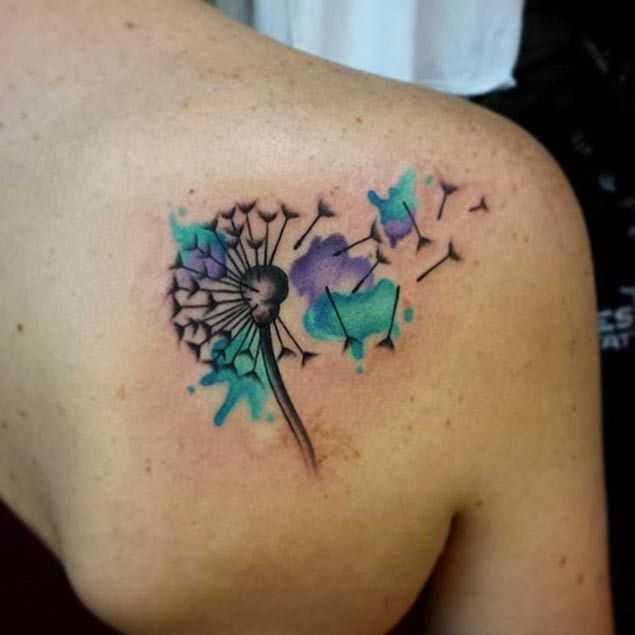 50 Devastatingly Delightful Dandelion Tattoos - TATTOOBLEND