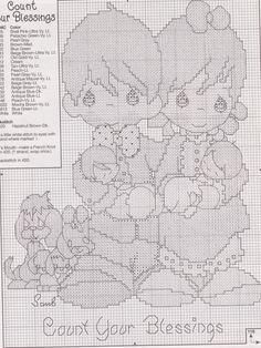 Free precious moments cross stitch patterns download   cross.