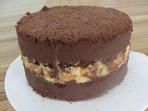 Bolo de Chocolate com Creme de Nozes | confeitariacreative