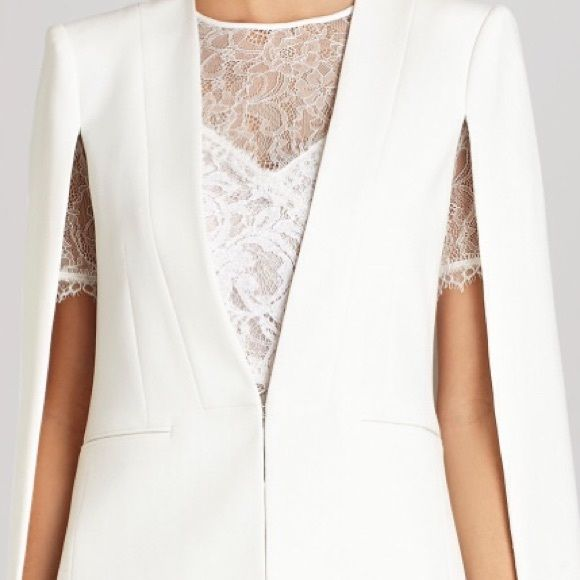 BCBG Cape Jacket **Hot Item** Authentic BCBG cape jacket in off white retails for $298. Classy and very chic. New with tags. No trades of any kind. Priced as marked. BCBGMaxAzria Jackets & Coats