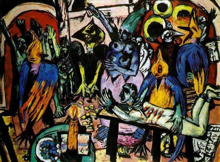 マックス・ベックマン『鳥の地獄』(1938) Max Beckmann - Hölle der Vögel #表現主義