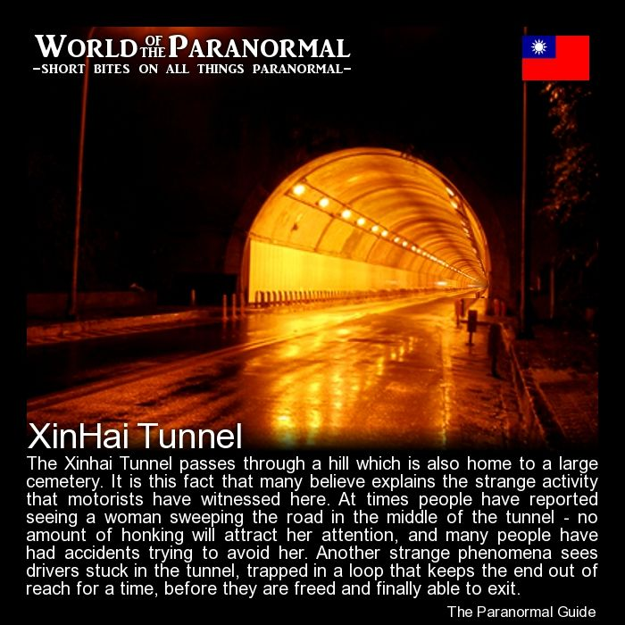 Xinhai Tunnel   - Taipei, Taiwan (ROC)   - 'World of the Paranormal' are short bite sized posts covering paranormal locations, events, personalities and objects from all across the globe.   Follow The Paranormal Guide at: www.theparanormalguide.com