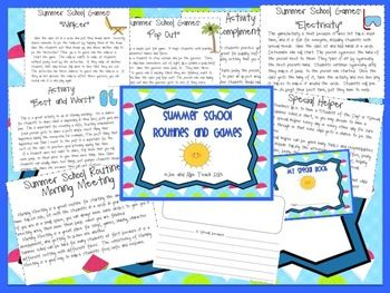 Summer School Routines and Games. 20 pages of summer school fun! Poetry, morning meeting, character, 4th of July, and more!