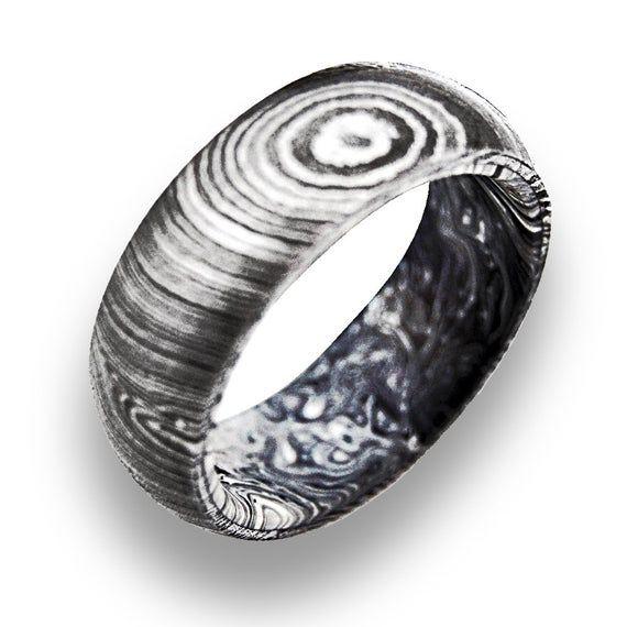 Handmade Damascus Steel Ring Wedding Ring Gift Ring