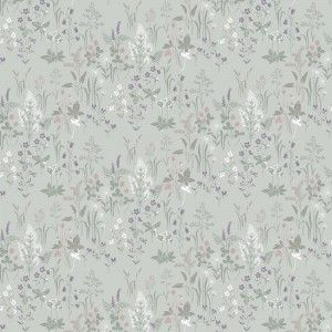 Sandberg Wallpaper in Flora Turquoise