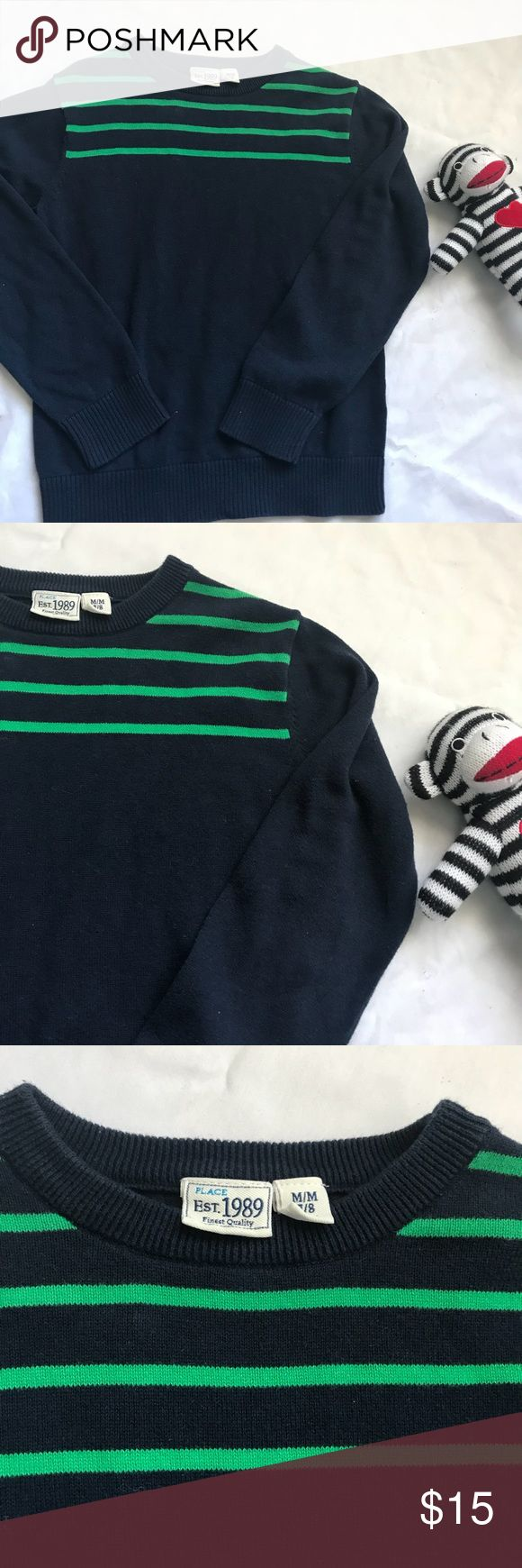"""CHILDREN'S PLACE Kids dress up sweater boys size M The Children's Place classic sweater. Dress up holiday. Size Medium 7/8. Sleeve is 19"""". Pit to pit 15"""". Length is 20"""". A25 The Children's Place Shirts & Tops Sweaters"""