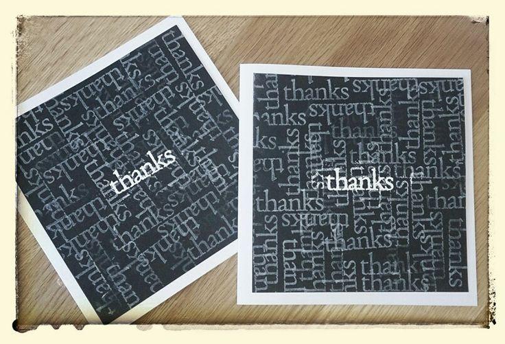 Handmade by Hilly Thankyou cards. £3.50 each. www.handmadebyhilly.com