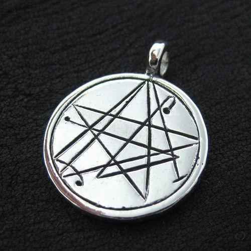 Silver Simon Necronomicon pendant from The Sunken City by DaWanda.com
