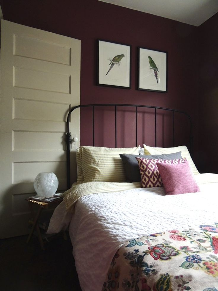 Kate's Restyled Little Lost Gems House Call  Burgundy BedroomBurgundy WallsPlum  WallsDeep BurgundyDeep PurpleWall ColorsBedroom Paint ...