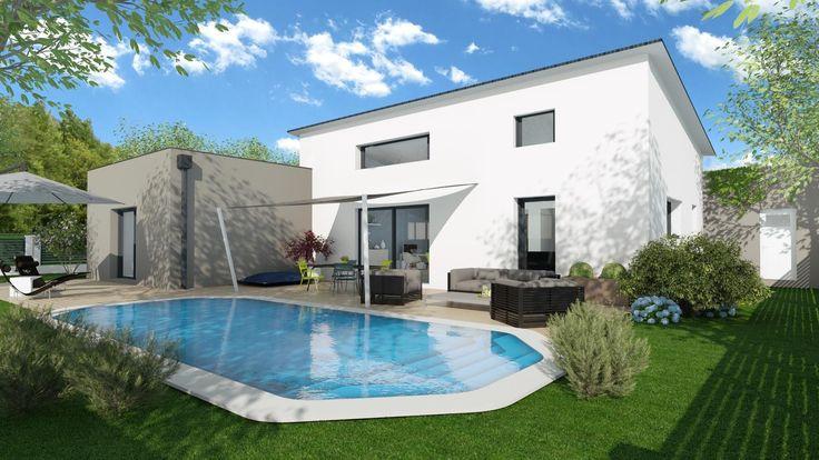 Extérieur maison 3D extrait du logiciel 3D Cedreo pour les - Logiciel De Maison 3d
