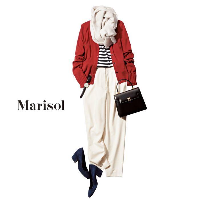 さりげないトリコロールづかいで大人フレンチコーデの完成!【2017/10/27コーデ】Marisol ONLINE|女っぷり上々!40代をもっとキレイに。