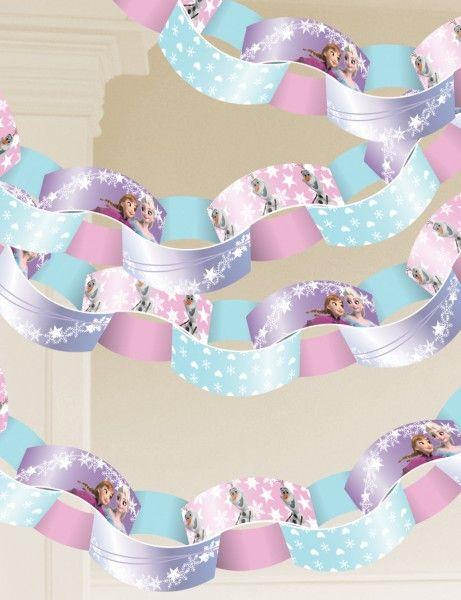Frozen die Eiskönigin Bastelgirlande aus Papierstreifen