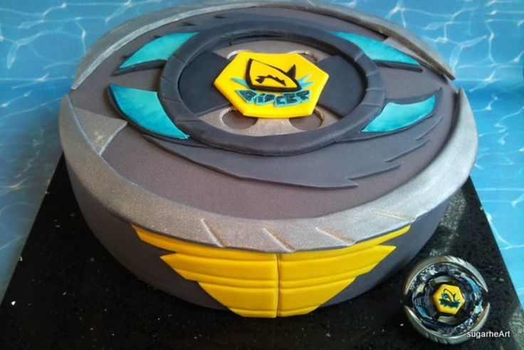Beyblade-Cake: Thermal Pisces for my son?s birthday....