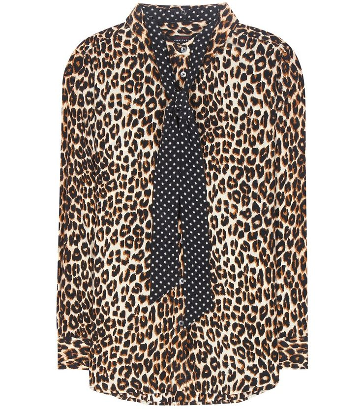Kate Moss for Equipment - Seidenbluse mit Leopardendruck
