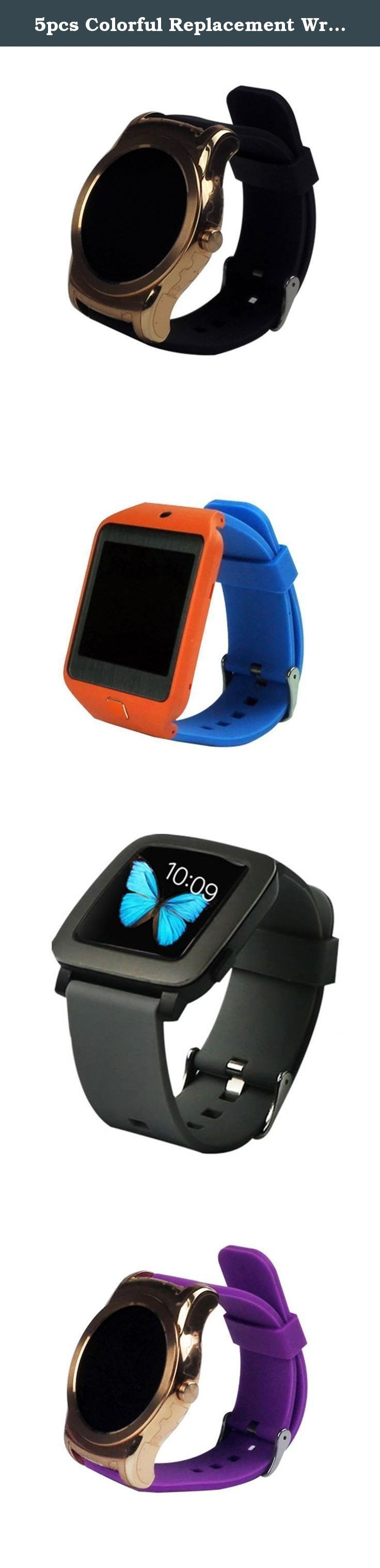 5pcs Colorful Replacement Wrist Band Strap For Pebble Time Smart Watch Bracelet (5Colors). Made of high quality silicone, it feels great when wearing; Please NOTE: only for pebble time 22mm width band, not for pebble steel, not for pebble time round Pebble time watch band, replace pebble watch watch band easily and directly. 11 different wristbands for pebble time smart watch: Silicone (black blue grey lime navy purple red white); Pattern (Owl and Volume flower); Leather (black) Softness…