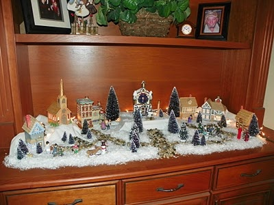 59 best Christmas Village Ideas and likes images on Pinterest - christmas town decorations