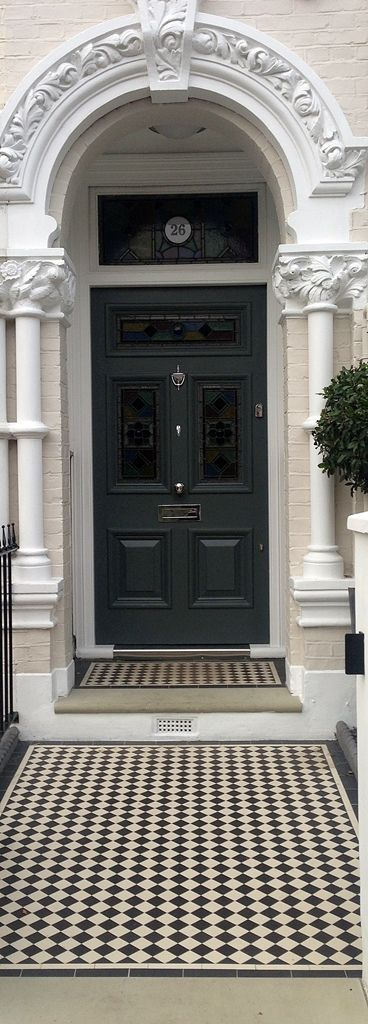 ON THE BLOG: 'The Best Front Door Paint Colours' – Try Little Greene Dark Lead Colour