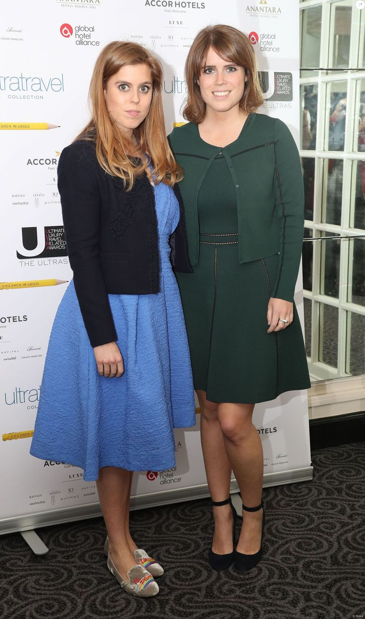 Princess Beatrice of York and Princess Eugenie of York attend the Ultimate Luxury Travel Related Awards on 22 May 2017 at the Savoy Hotel, London.