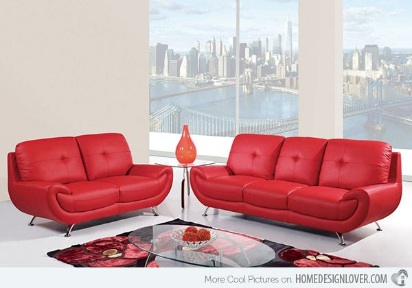 15 Bold and Red Sofa Designs