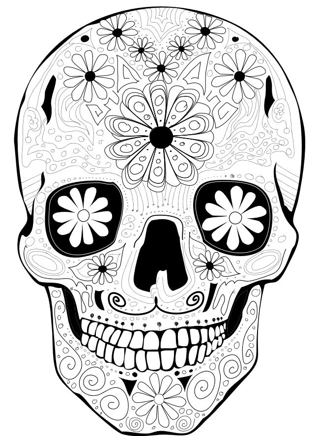16 best COLOR MY SKULL images on Pinterest Coloring books