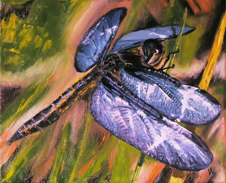 Blue dragonfly. by methosw.deviantart.com on @DeviantArt