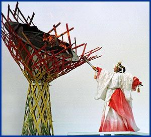 Lighting of the Olympic Torch | Midori lighting the Olympic Cauldron. Feb 1998 (  sc 1 st  Pinterest & 41 best ??? Olympic flame images on Pinterest | 3d printer ... azcodes.com