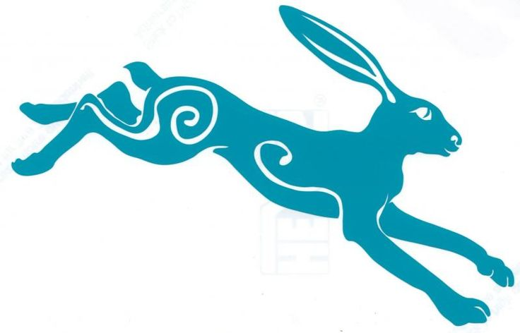 gazing hare | Moon gazing running hare car sticker | Hippy Motors car stickers vinyl ...