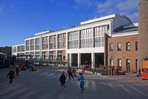 industrial heritage, former Milkfactory, now school and more, Hilversum, the Netherlands -  Bouwwereld.nl