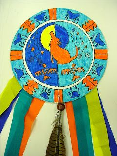 Native American shield paper craft art in society