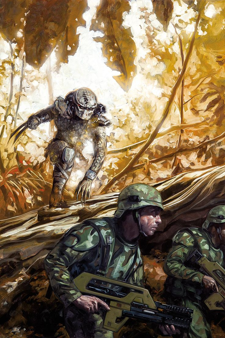"Predator: Life And Death #2 by David Palumbo "" Predator: Life and Death #2 (of 4) Dan Abnett (W), Brian Thies (A), Rain Beredo ©, and David Palumbo (Cover) On sale April 6 FC, 32..."