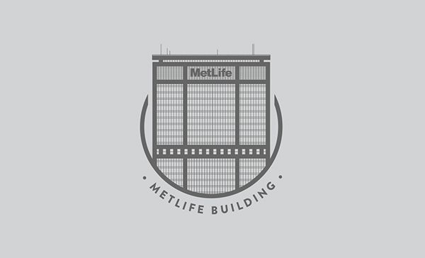 The Metlife Building, New York City - Logo Illustration by Mat Voyce